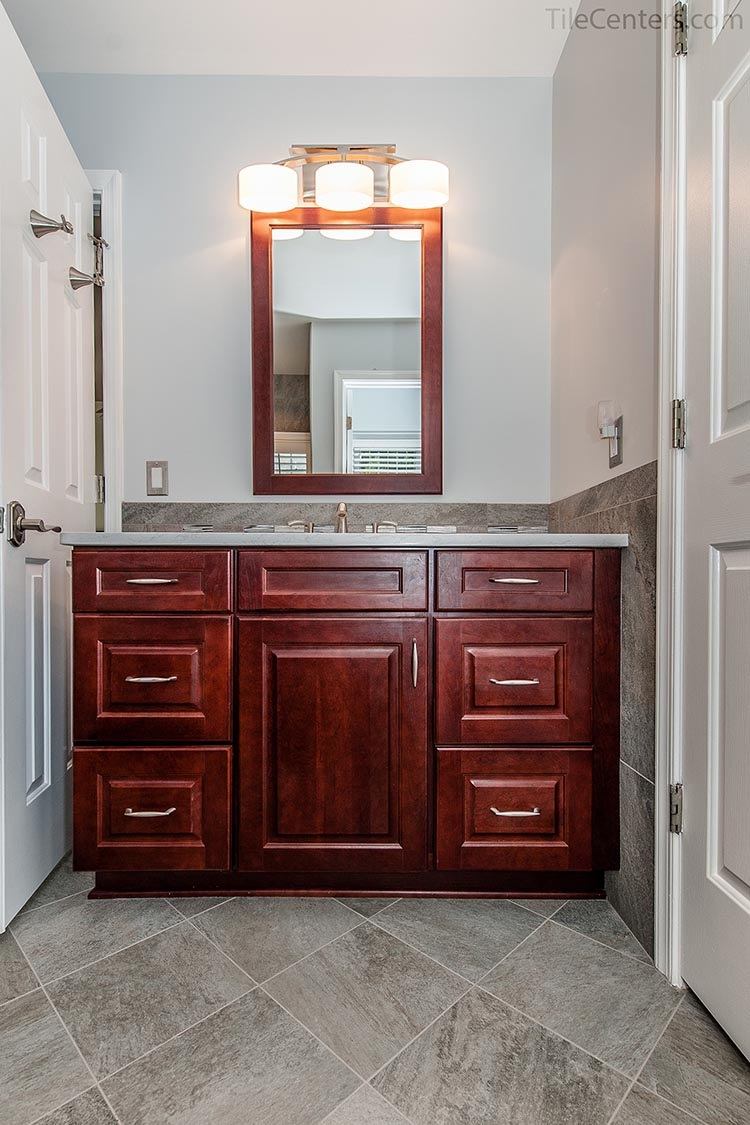 Red Brown Bathroom Vanity