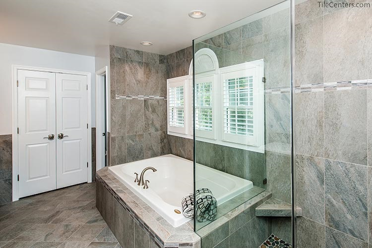 Modern Master Bathroom Remodel with Bathtub