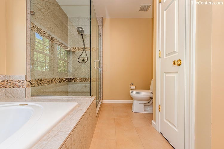 Beige Bathroom Floor Tile