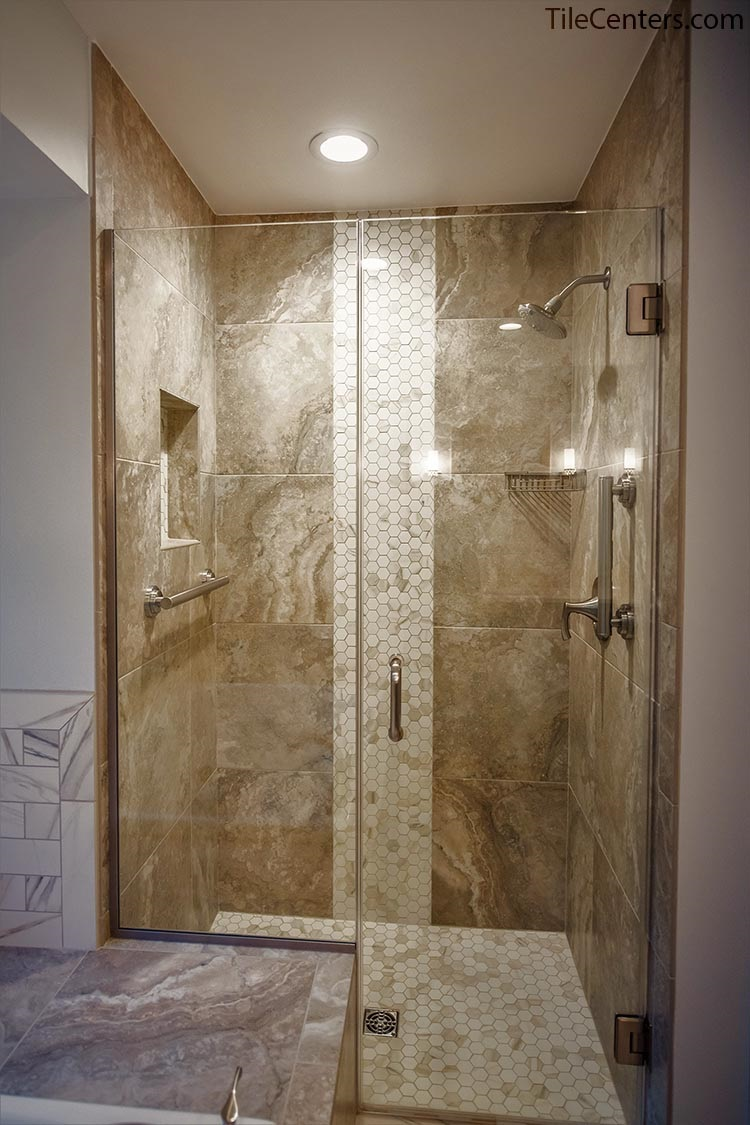 Semi frameless glass shower door - Gaithersburg, MD 20882