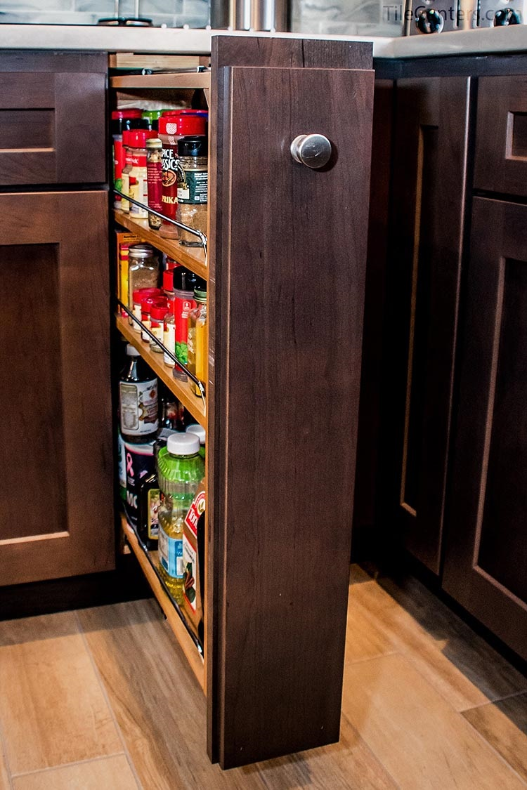 Pullout Kitchen Cabinet Spice Rack