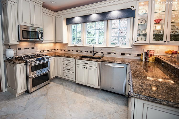 Transitional Kitchen Remodel with Tile Floors