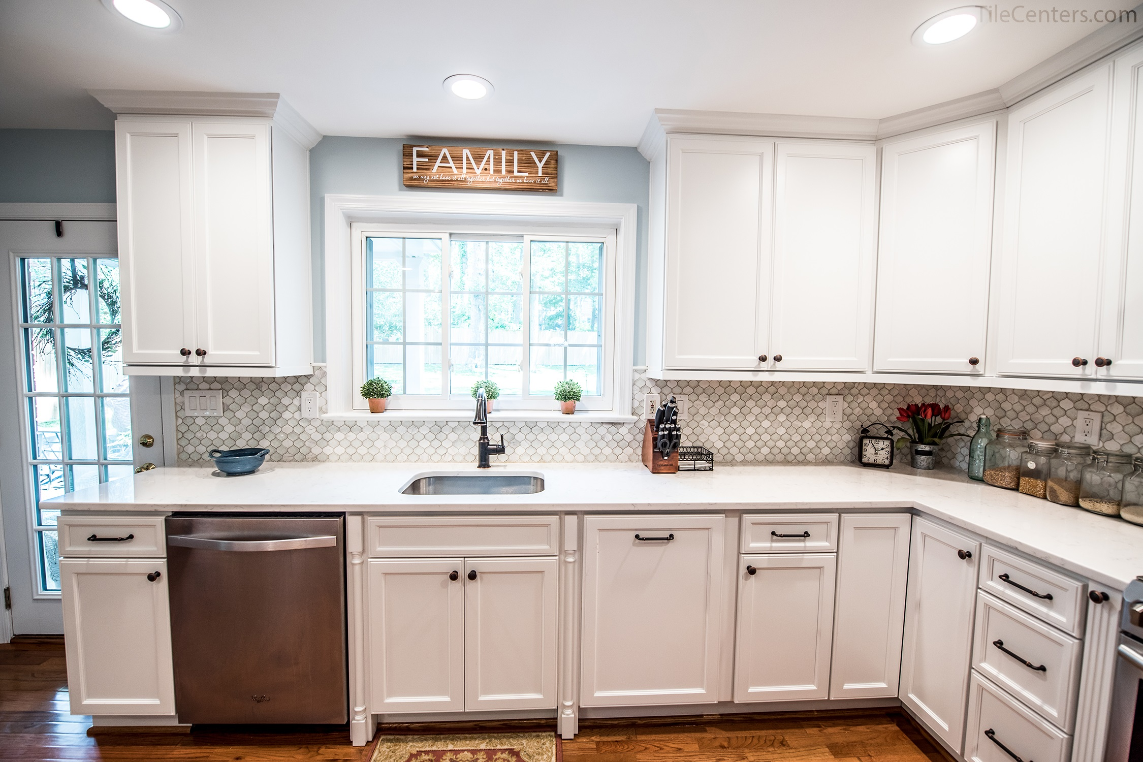 Gentil Kitchen Remodel   A Clean, White Kitchen With Maple Cabinets