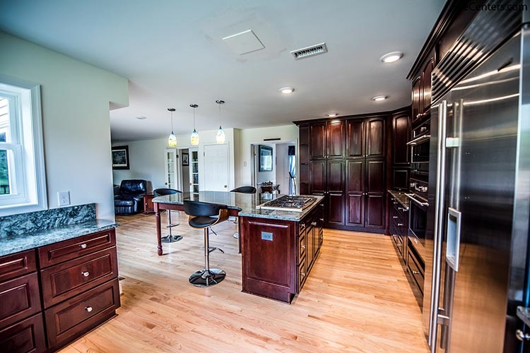 Transitional Kitchen Remodel with Red Oak Wood Floors
