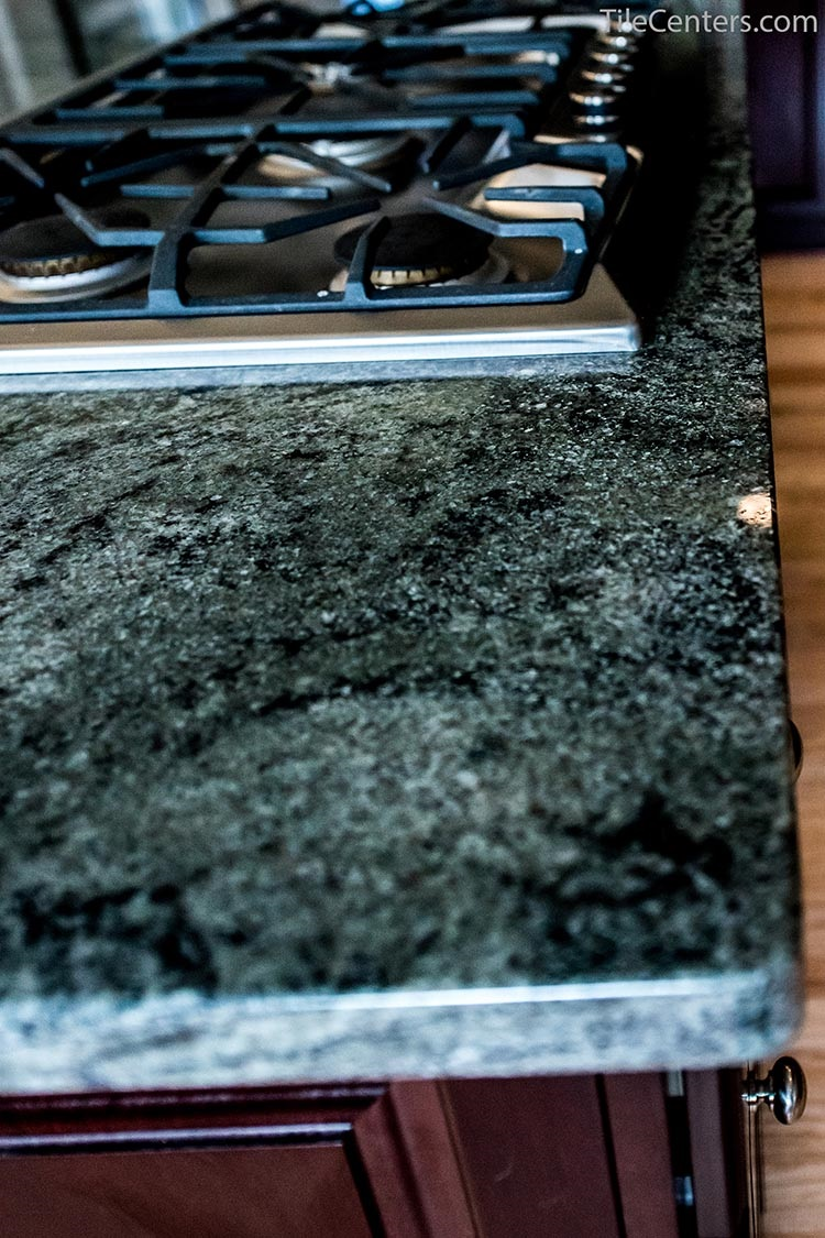 Dark Grey Kitchen Countertop Up Close