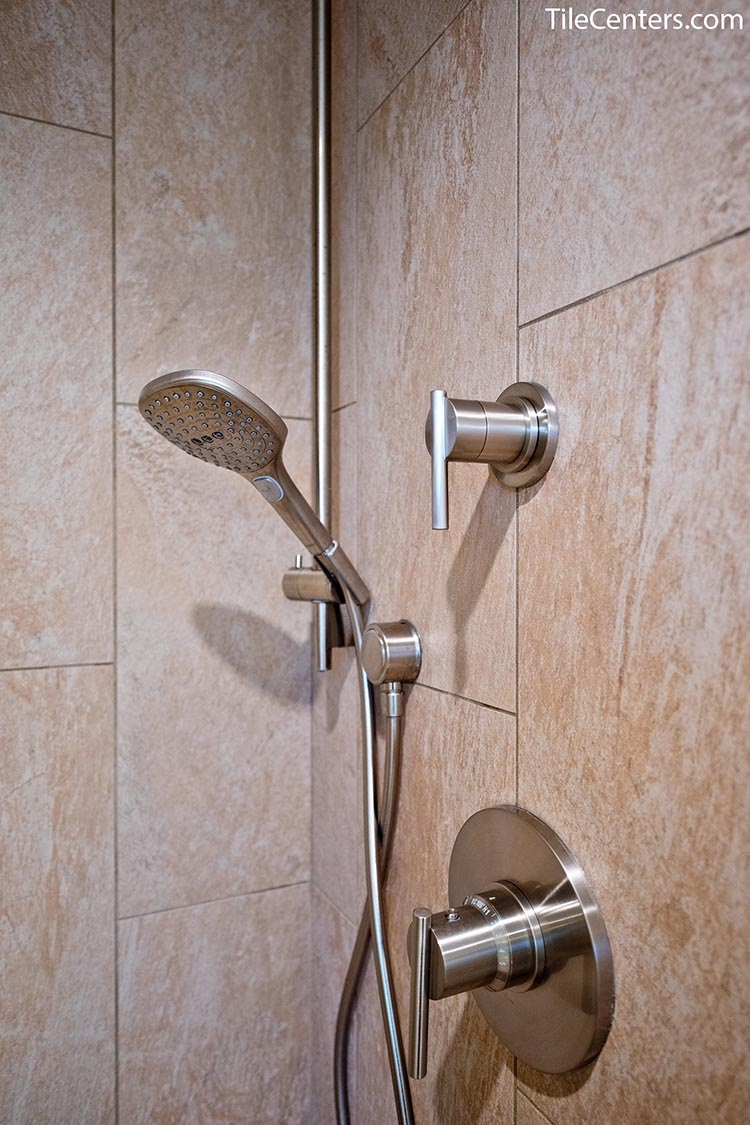 Shower fixture installation in bathroom remodeling - Potomac, MD 20854