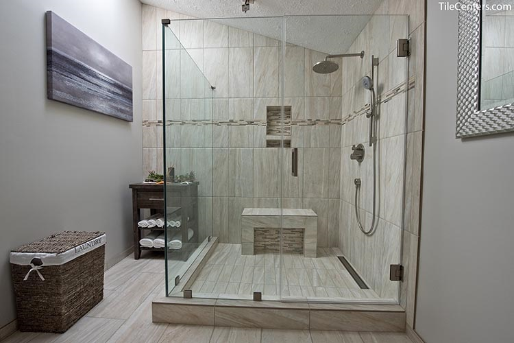 Glass Shower with Seat
