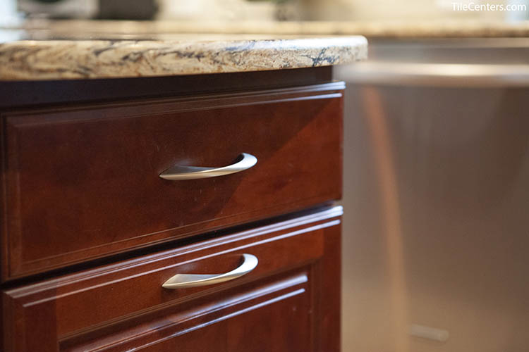 Kitchen Cabinet Handle Up Close
