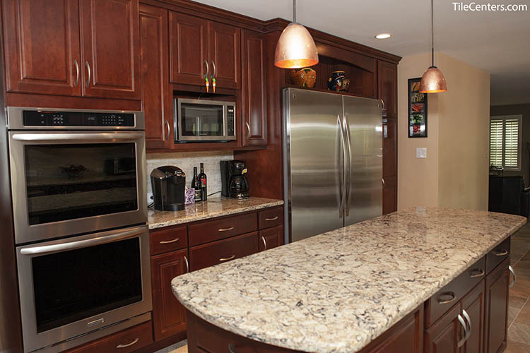 Kitchen Remodel with Floating Island Countertop
