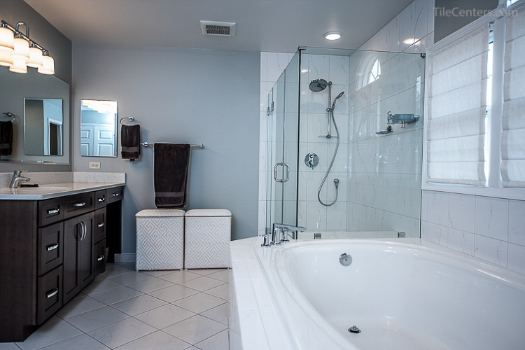 Glass Shower and Bathtub