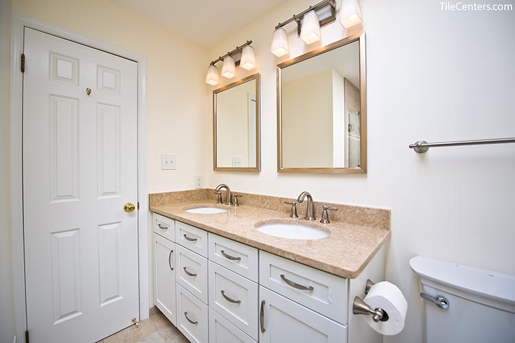 Traditional Bathroom Vanity with White Cabinets