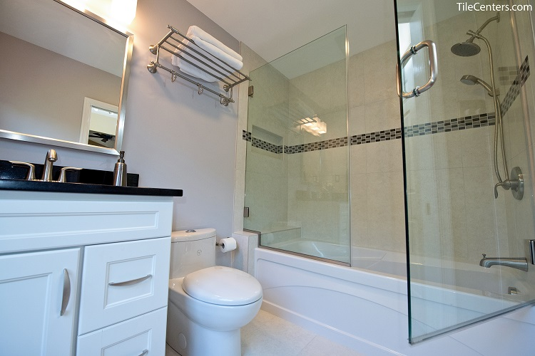 Shower and Tub with Glass Doors