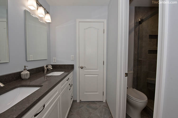 Hall Bathroom with Hidden Shower and Toilet