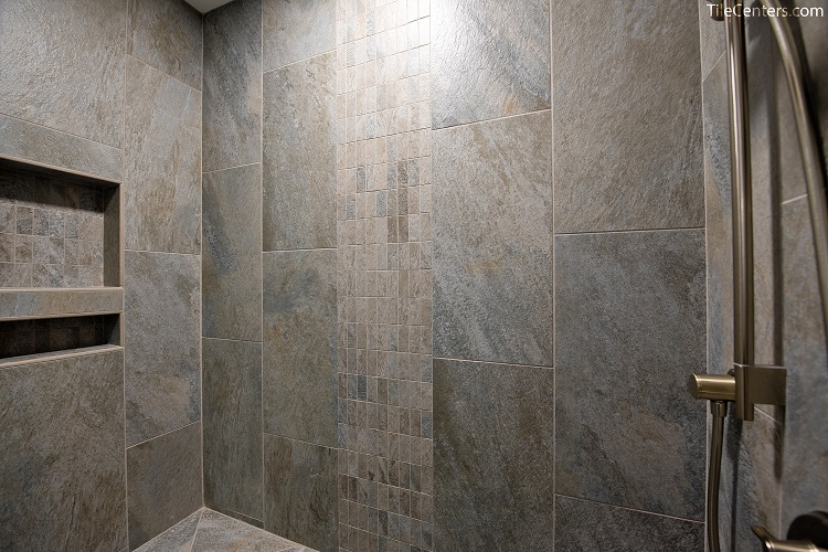 Waterfall Shower Tile Pattern
