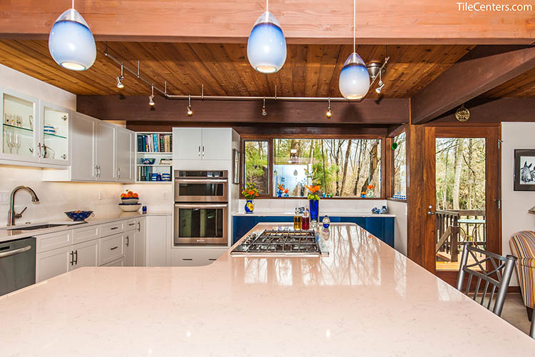 White Floating Countertops