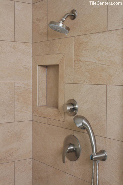 Satin Nickel Shower Faucet Up Close