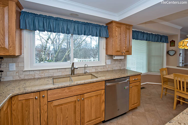 Traditional Kitchen Remodel with Natural Cabinets