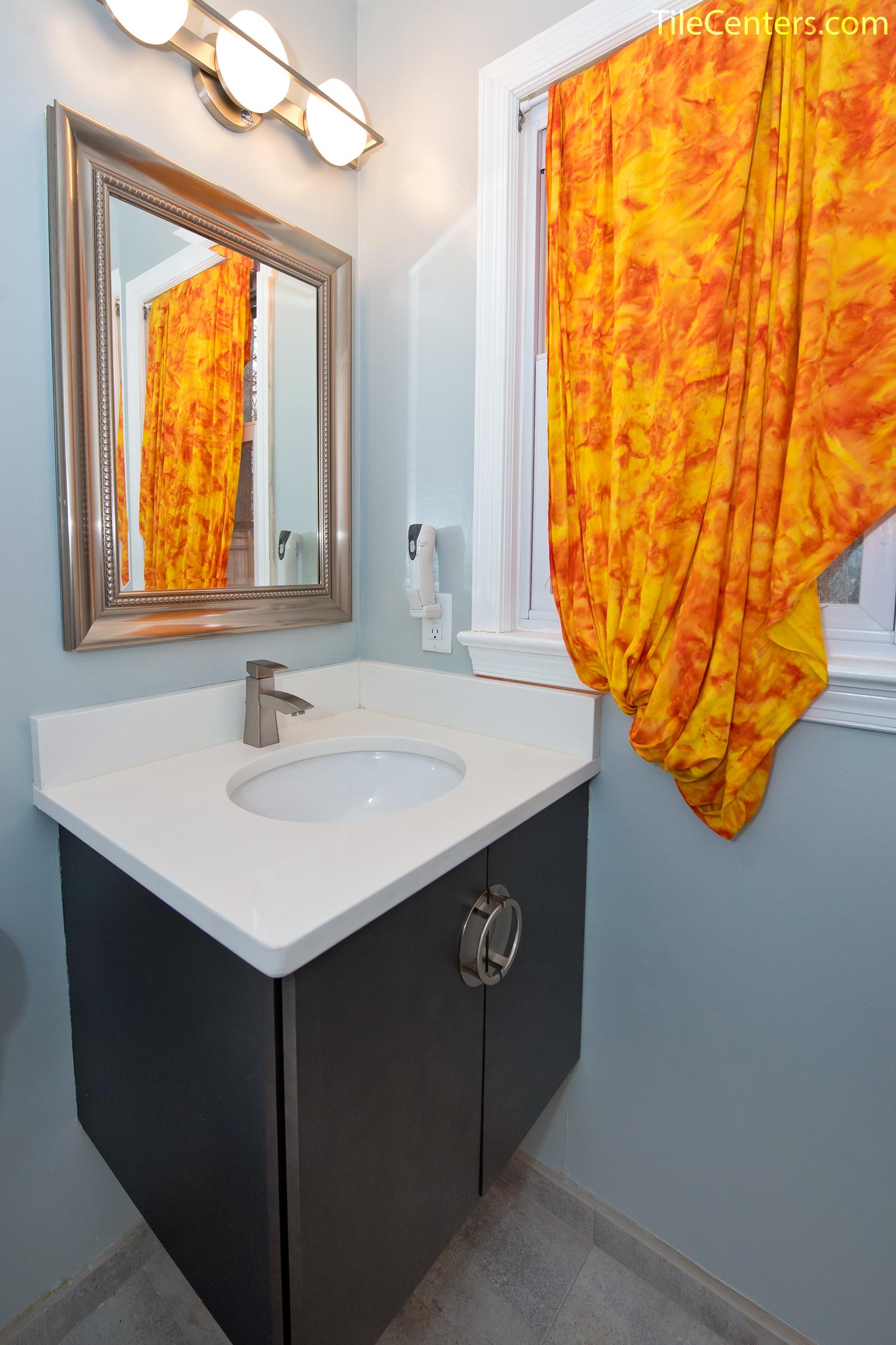 Powder Room Remodel Liberty Ln Potomac Md 20854