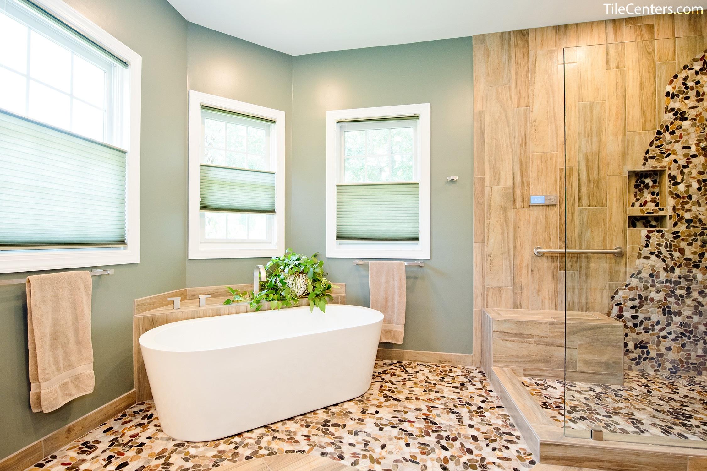 Natural Master Bathroom Remodel - Gallery & Design Ideas