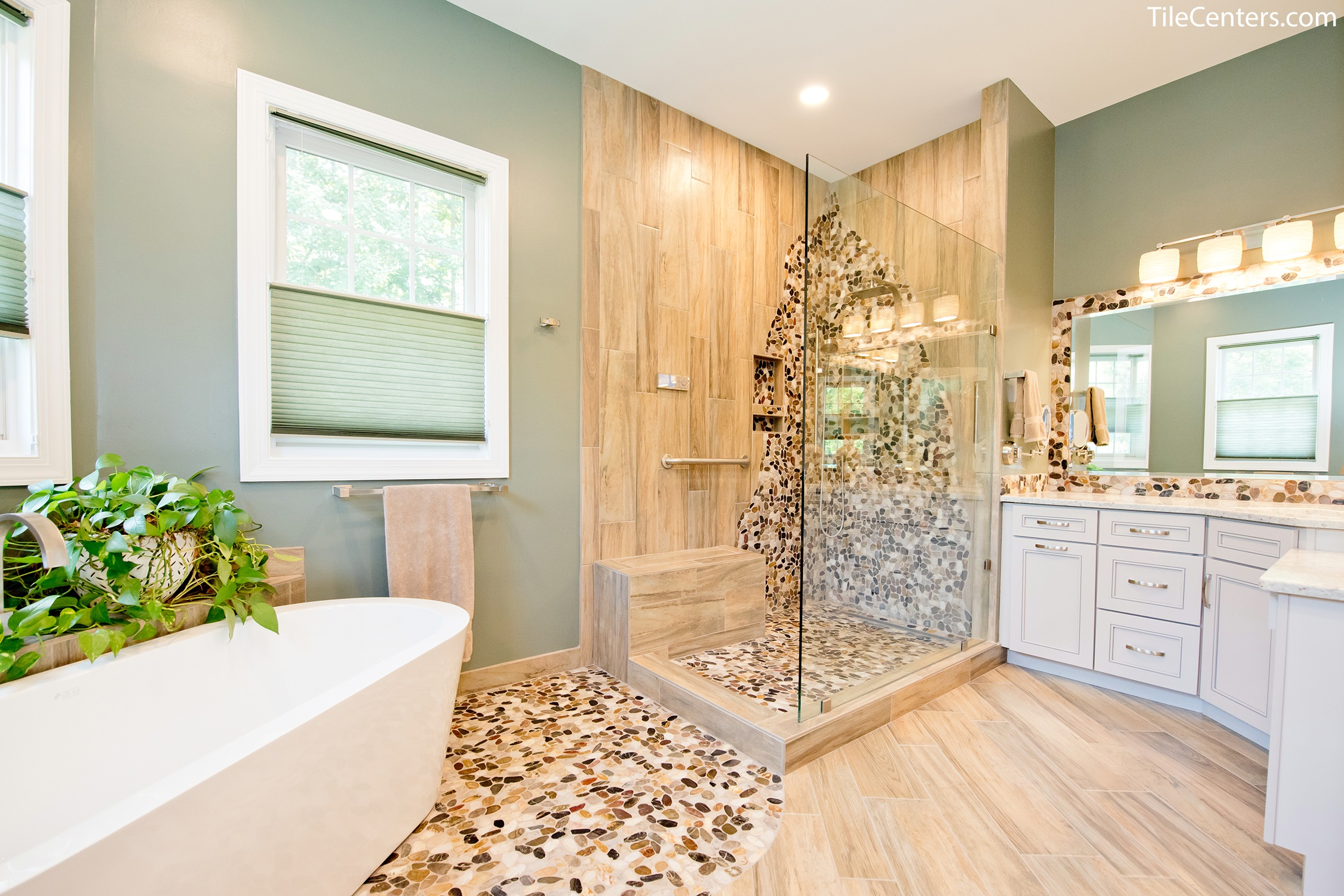 Natural Master Bathroom Remodel - Gallery & Design Ideas