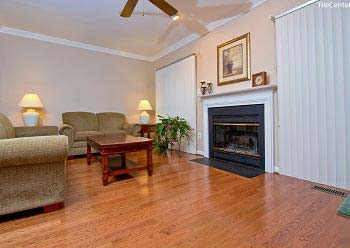 Solid Hardwood floor installation in the living room