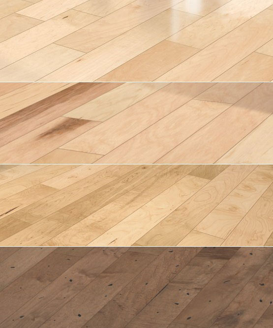 Hardwood floor finishes and texture