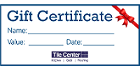 Tile Center - Gift Certificates