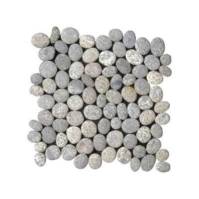 Speckled Rectified Matte Pebble Interlocking Mosaic